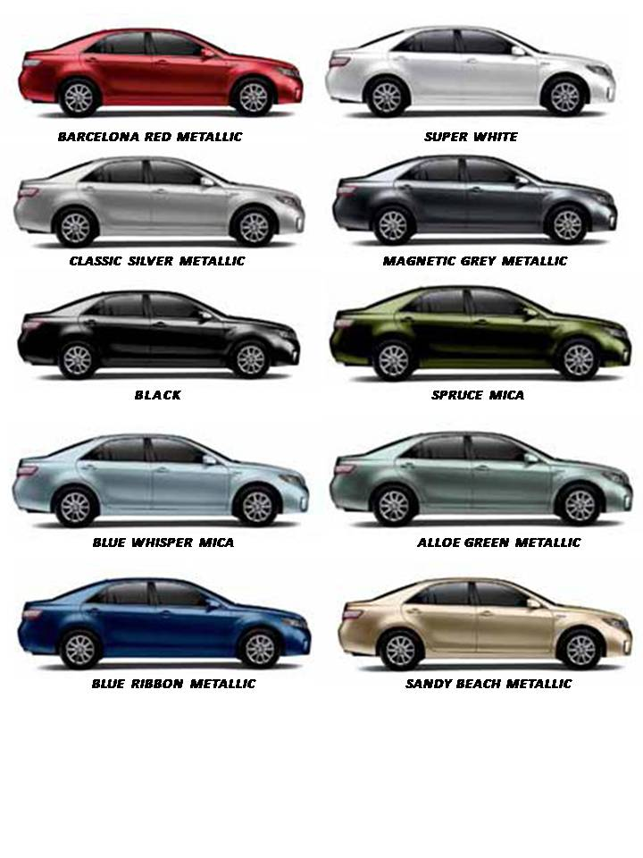 2015 Camry Colors >> Toyota Camry Colors Auto Car Update